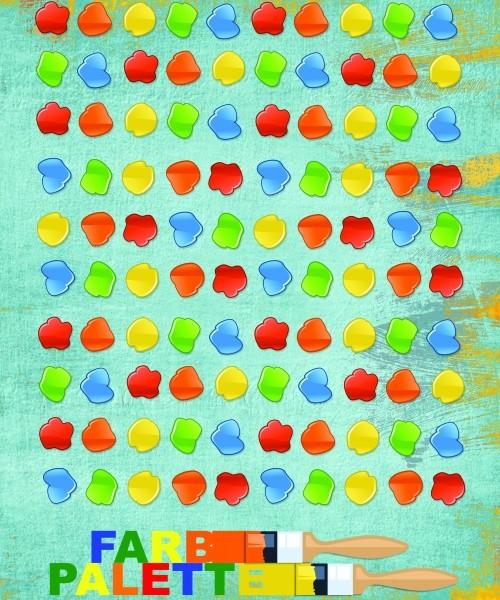 Farbpalette Brettspiel Lernspiel