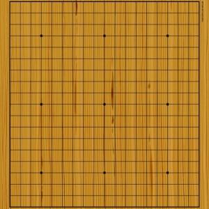 Go klassisch Spielbrett rollbar mit Holz-Optik